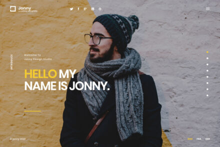 Jonny WordPress vCard Theme
