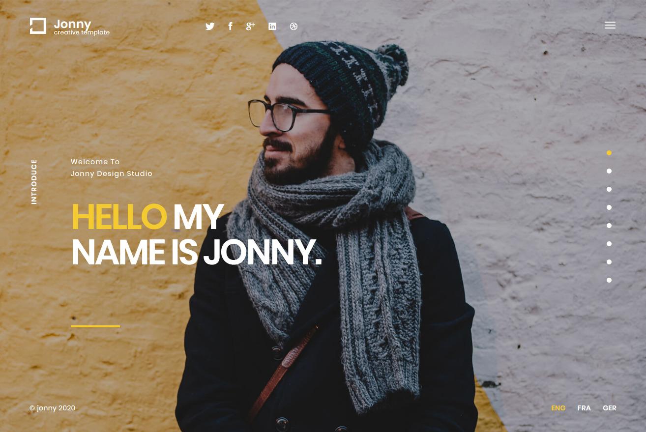 Jonny WordPress vCard Theme