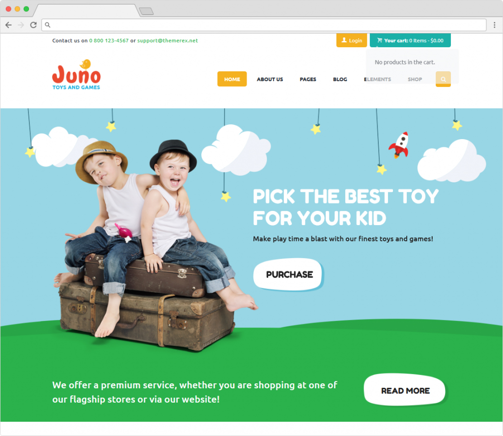 Juno Kids Toys And Games Store WordPress Theme