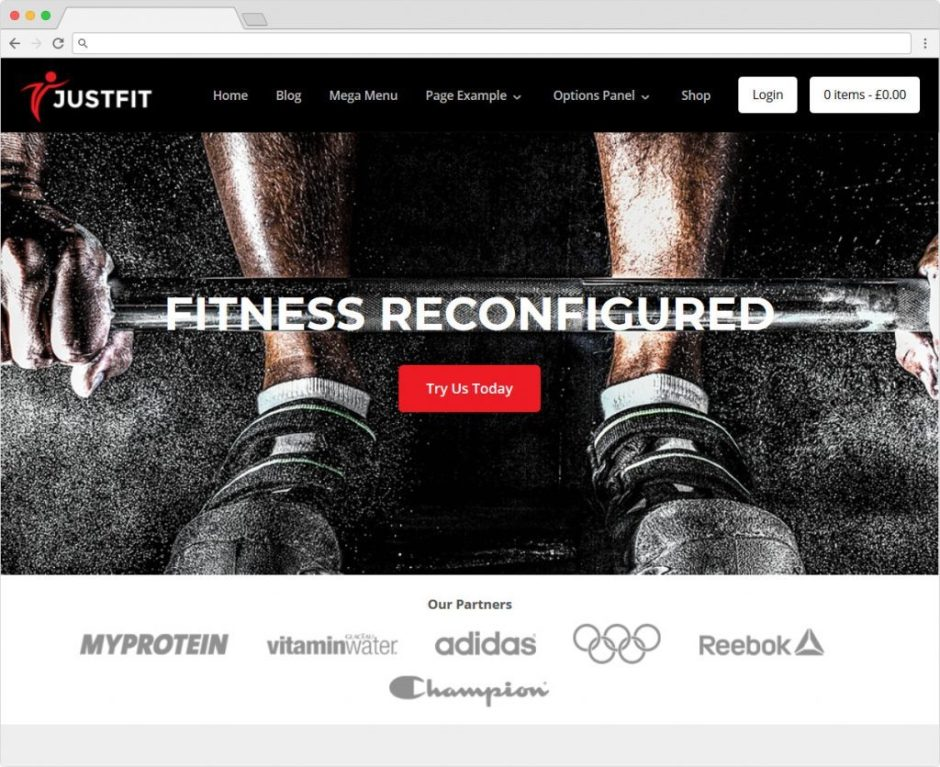 Justfit WordPress Fitness Training Theme for Personal Trainers and Gyms