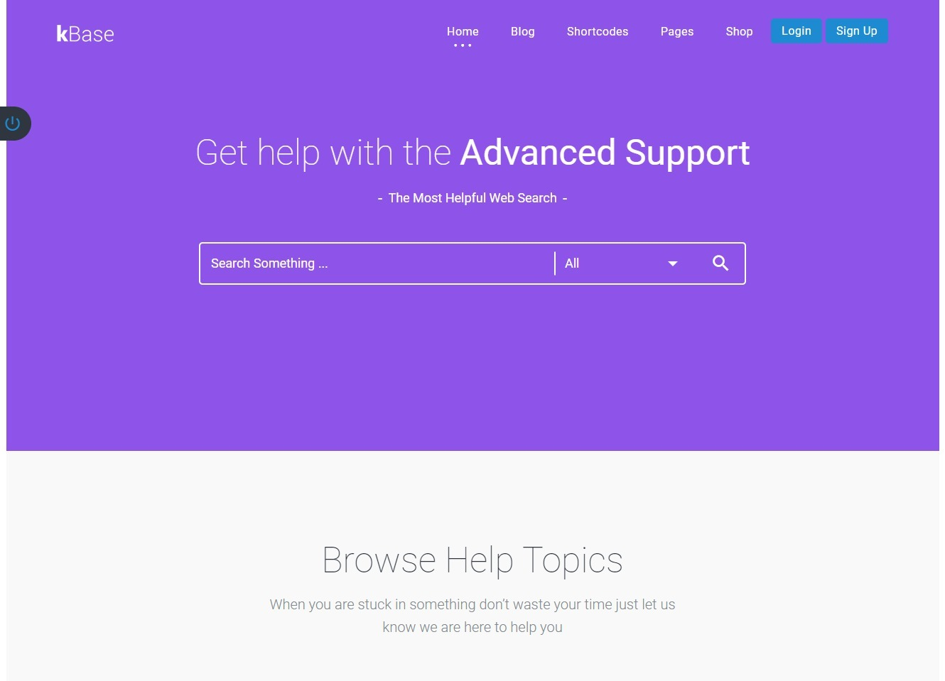 KBase WordPress Theme For Providing Fast Friendly Online Support