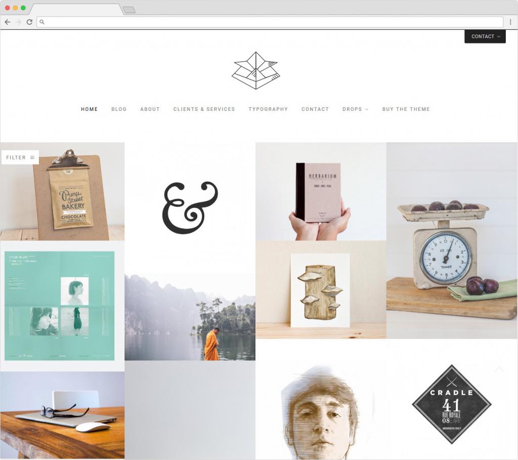 Kabuto WordPress Grid Portfolio