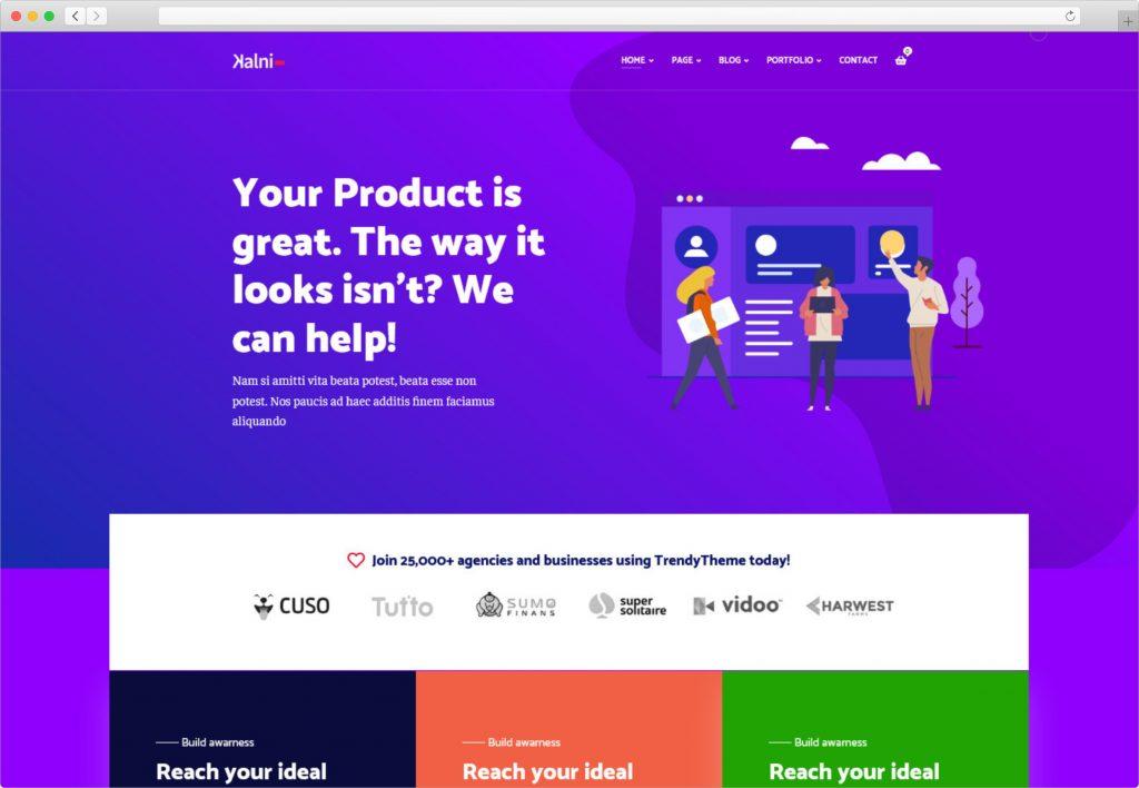 Kalni Creative Portfolio WordPress Theme