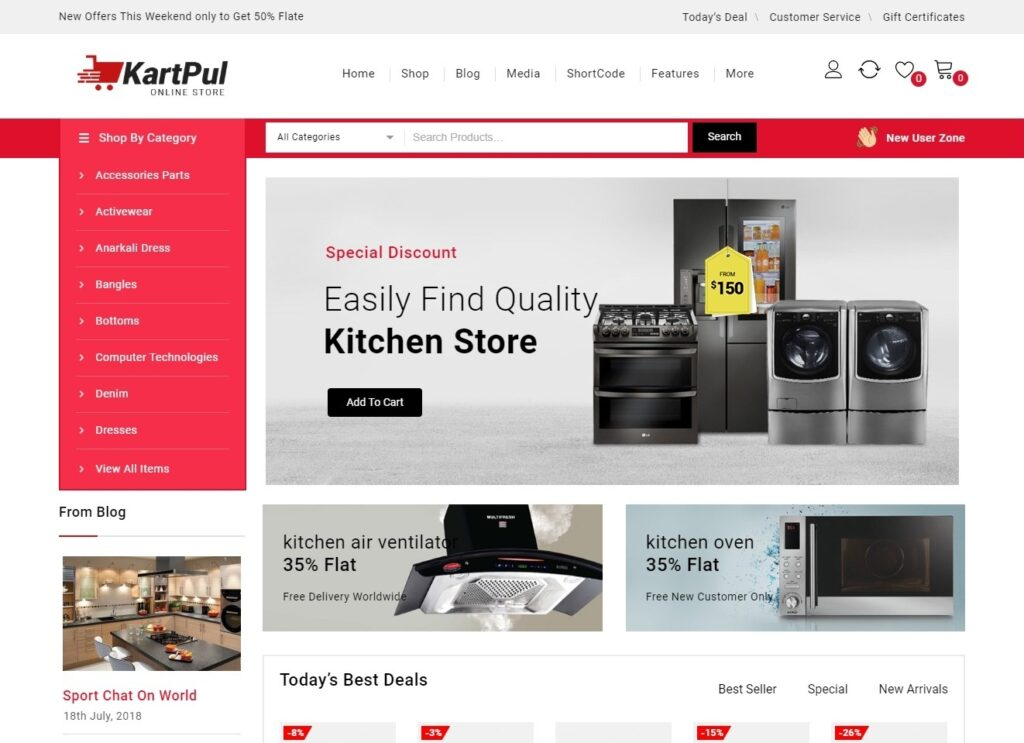 KartPul User Friendly WooCommerce Shopping Theme
