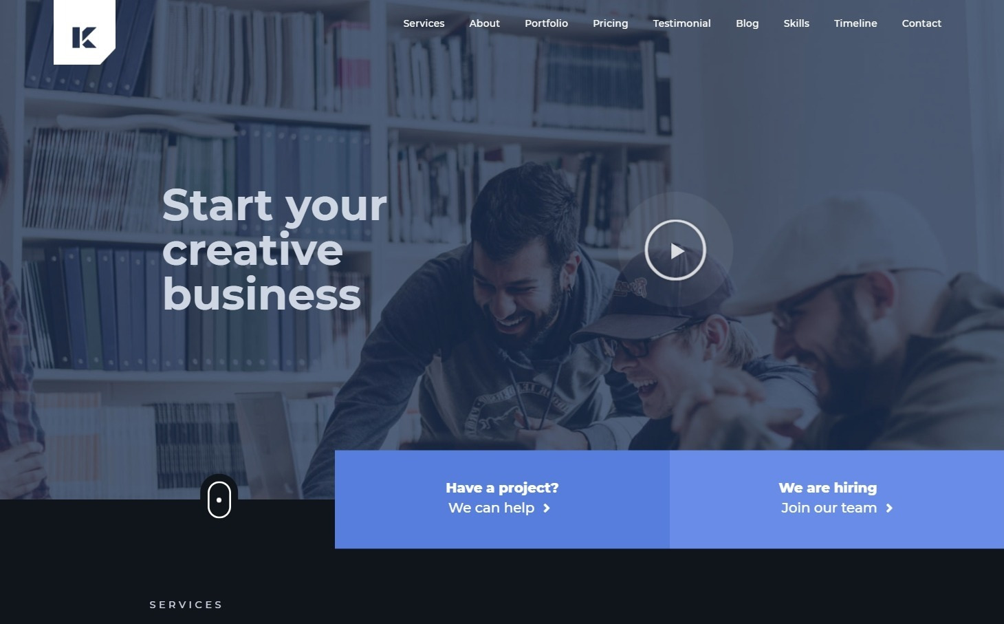 Kaven Business Portfolio One Page WordPress Theme