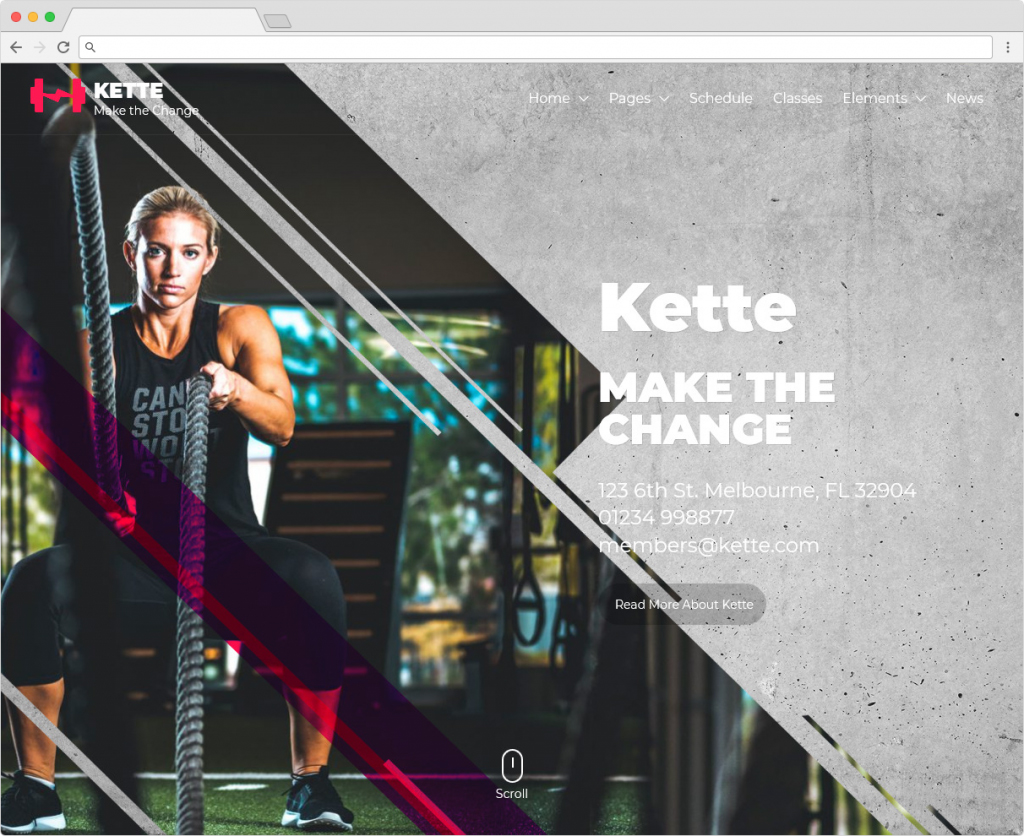 Kette Gym And Fitness WordPress Theme