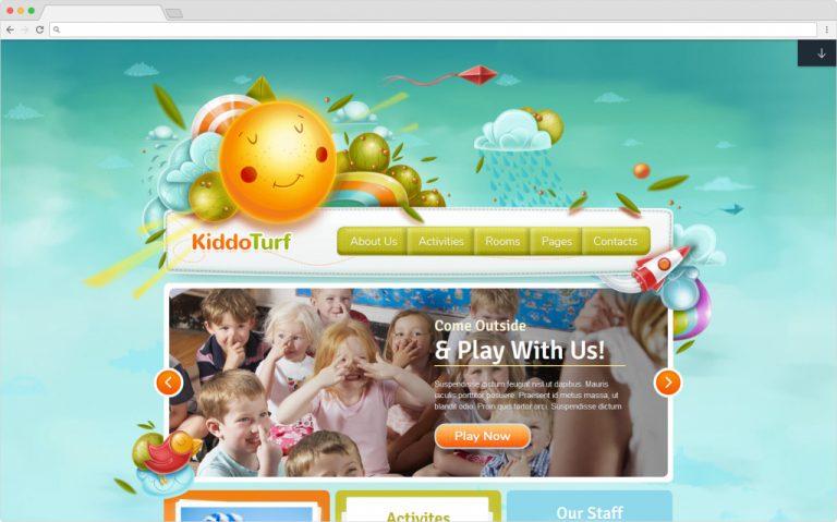 KiddoTurf WordPress Kids Kindergarten Education Theme