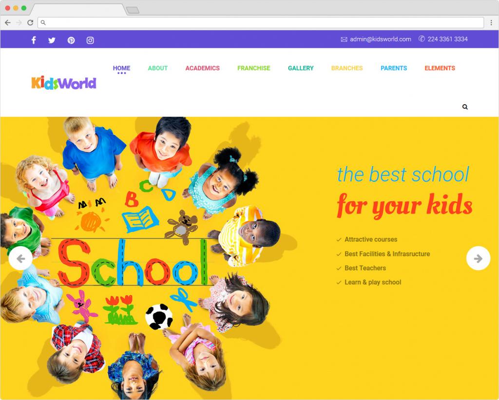Kids Heaven WordPress Childrens Education Theme