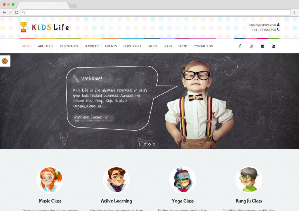 Kids Life WordPress ECommerce And Business Theme For Children
