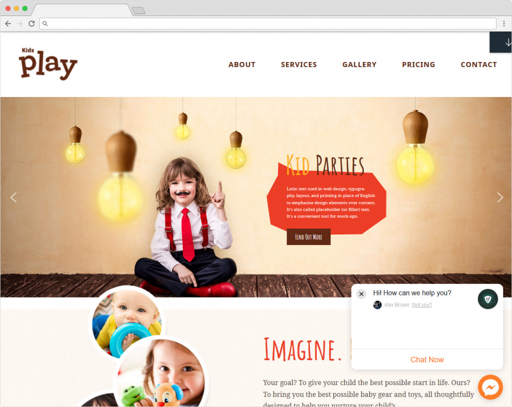 Kids Play WordPress Theme For Children