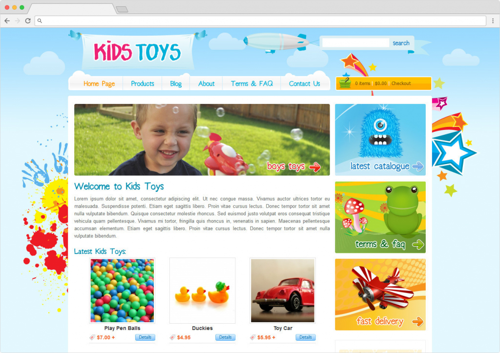Kids Toys WordPress Childrens Toy Shop Theme