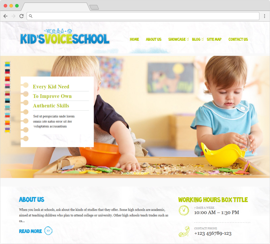 Kids Voice WordPress Childhood Education Theme