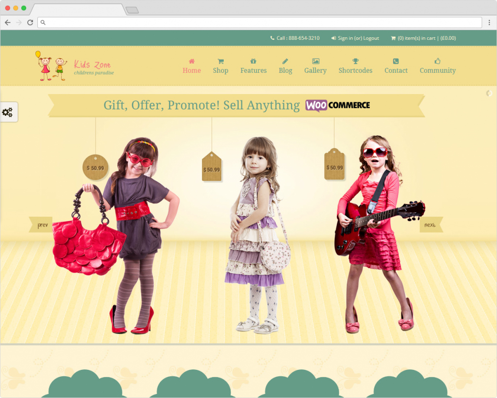 Kids Zone WordPress Childrens ECommerce Theme
