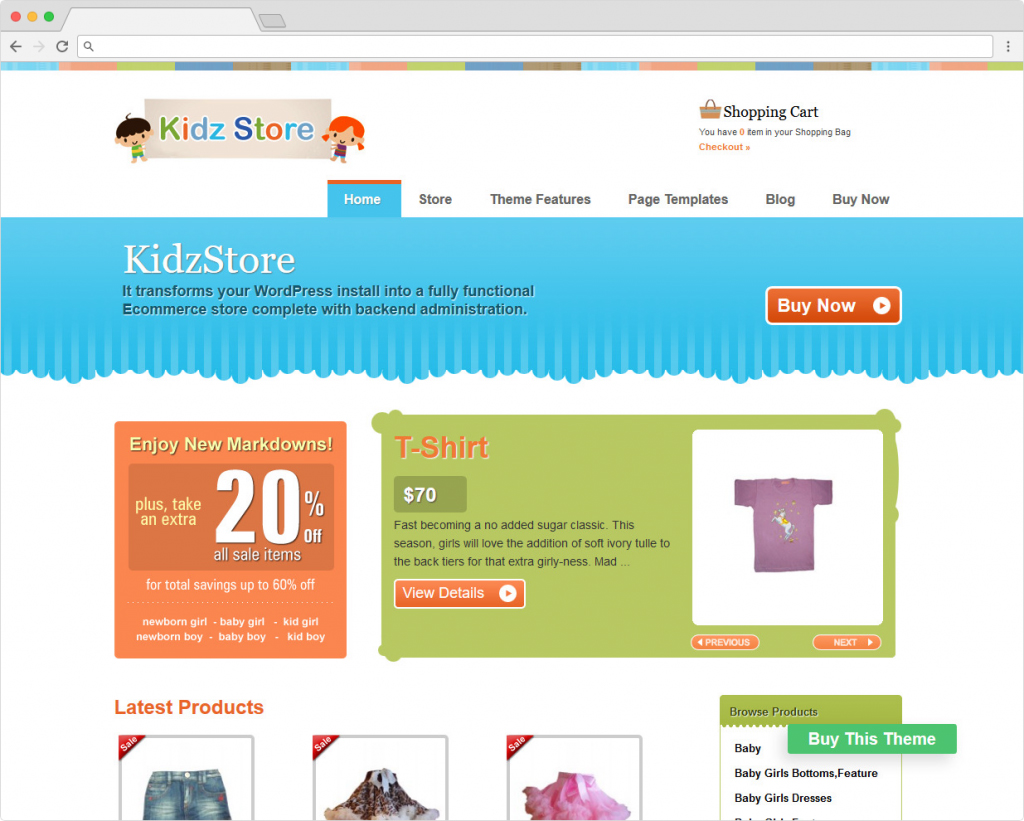 Kidz Store Children Friendly WooCommerce Theme