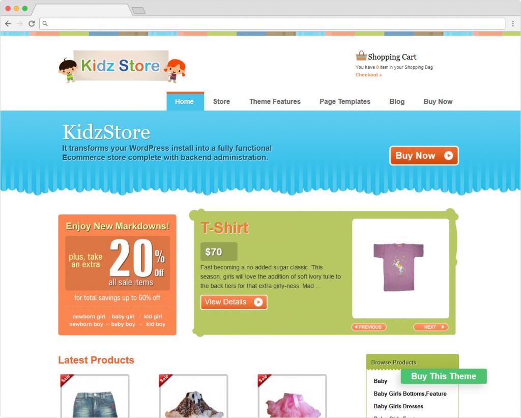 Kidz Store Children Friendly WooCommerce Theme