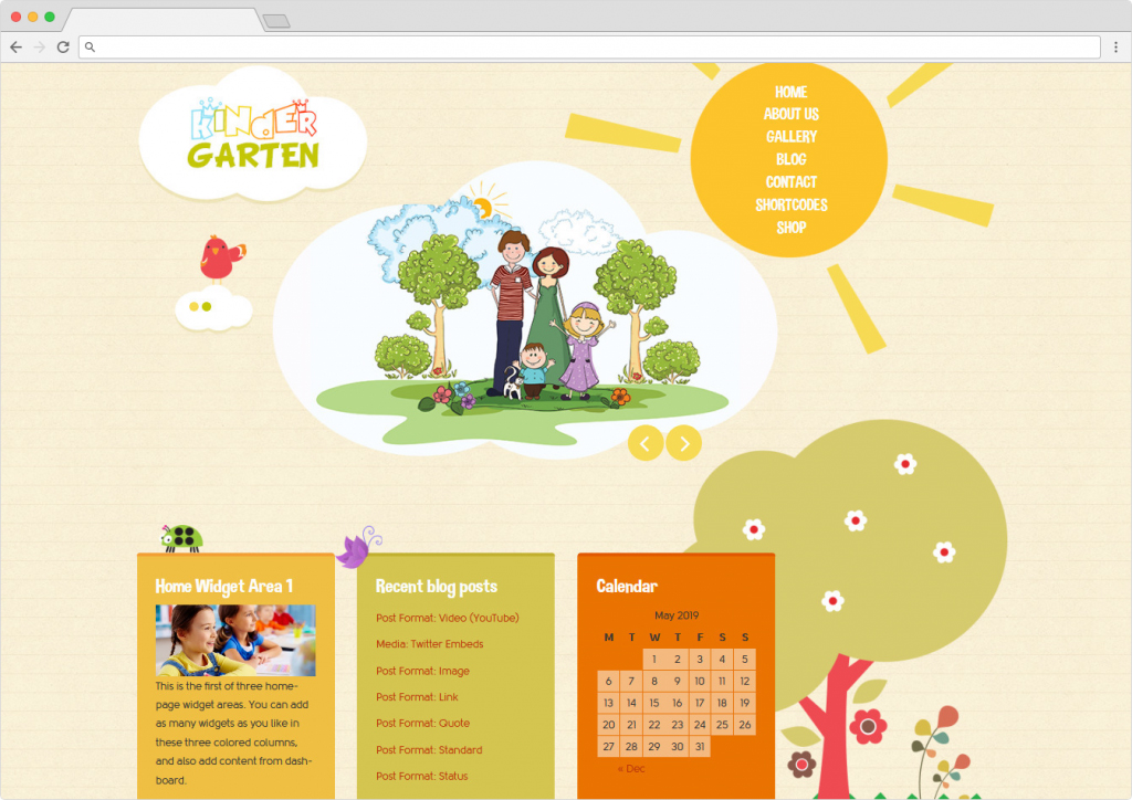 Kindergarten WordPress Kids Edcuation Theme