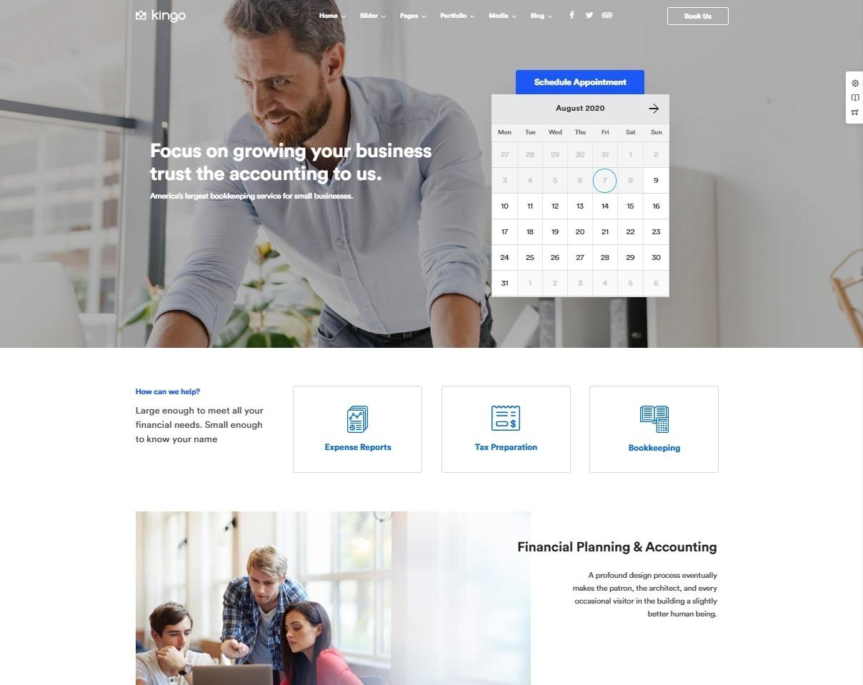 Kingo Small Business Promotion WordPress Theme