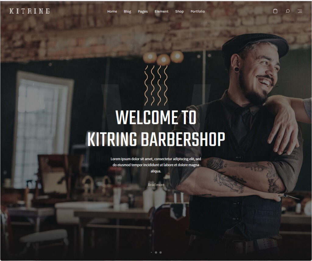 Kitring WordPress Beauty Barber And Hair Salon Theme