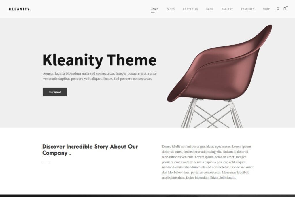 Kleanity State of the Art WooCommerce WordPress Theme