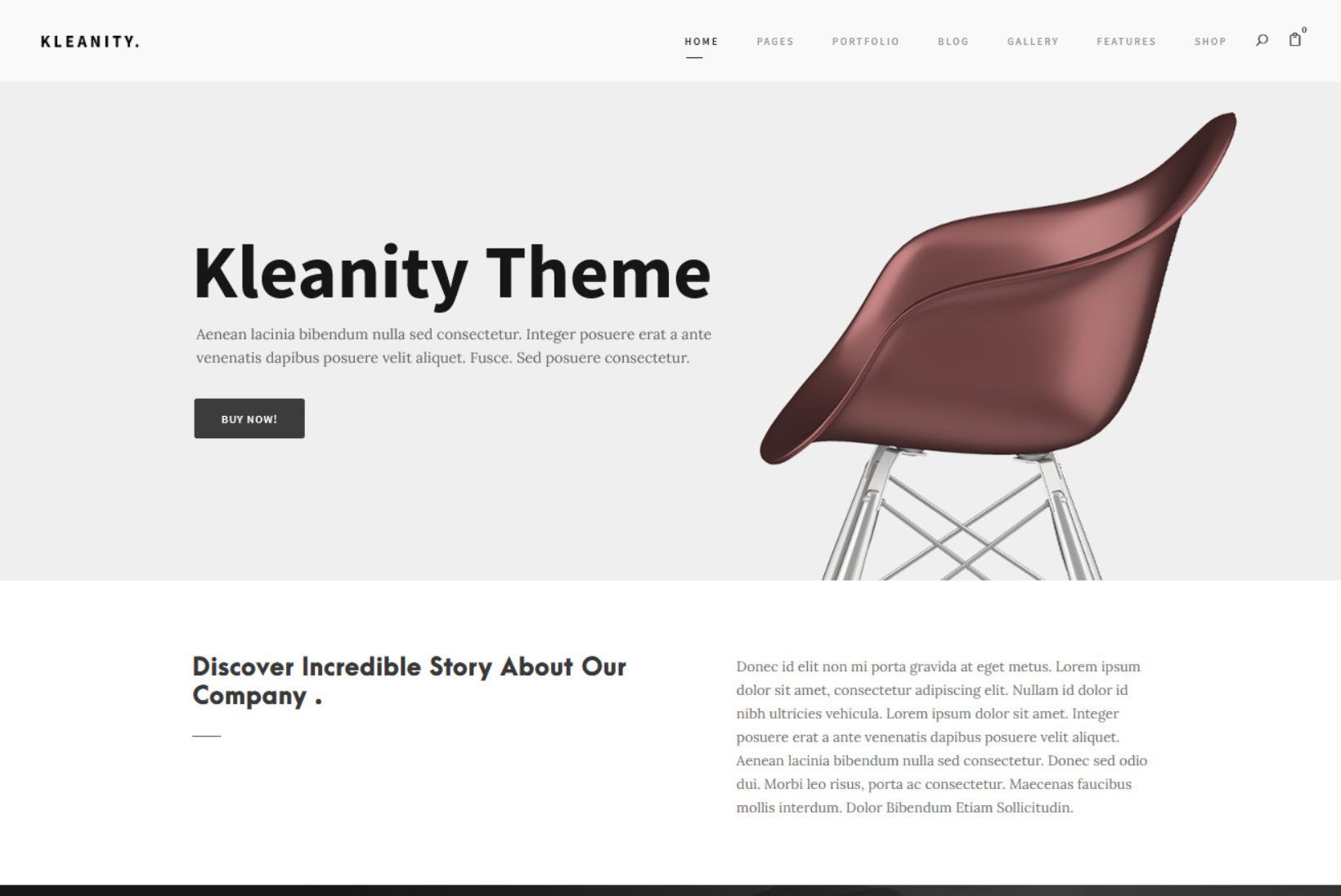 Kleanity State of the Art WooCommerce WordPress Theme