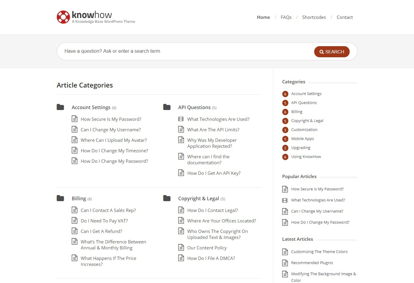 KnowHow Simple and User Friendly Knowledgebase WordPress Theme