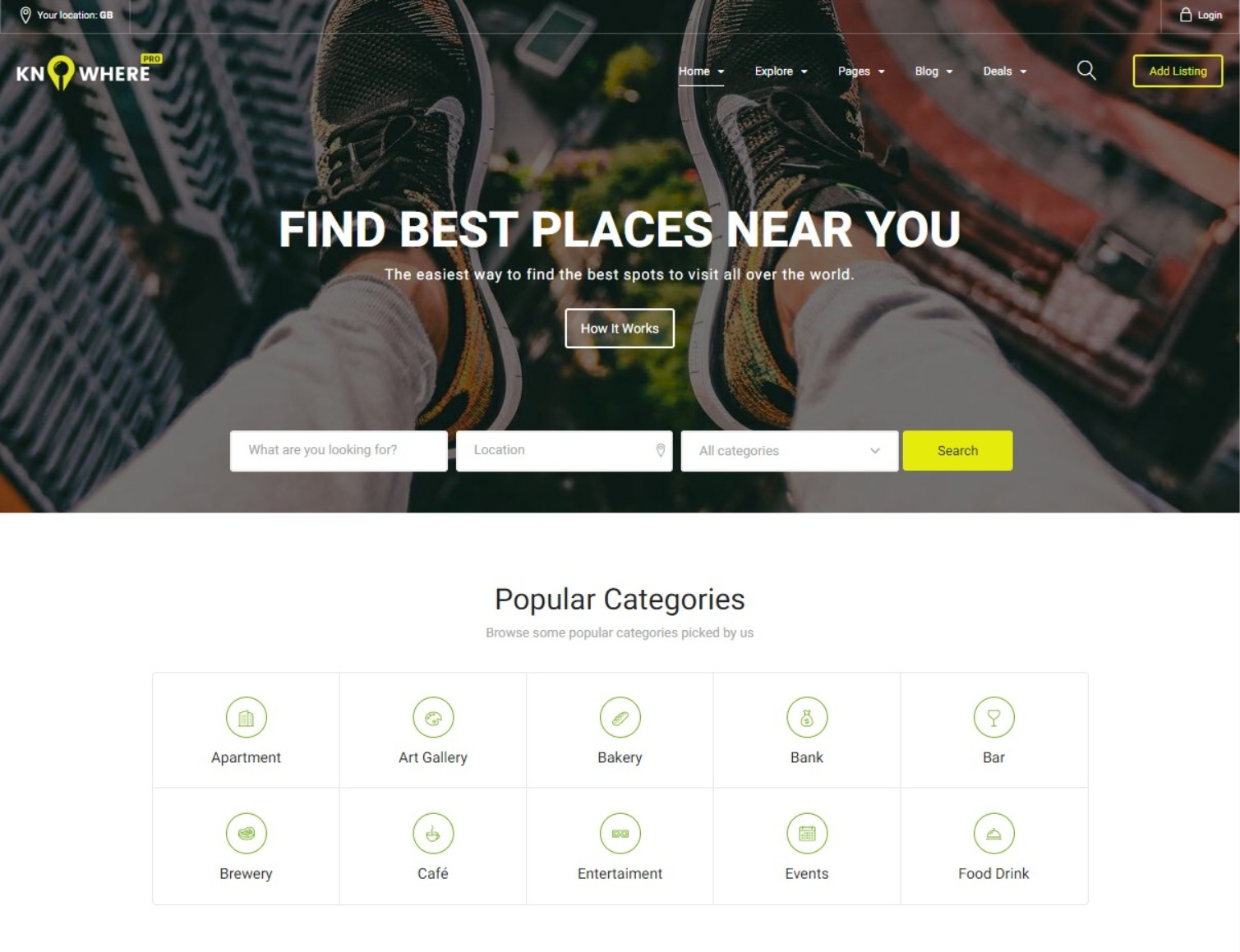 Knowhere Pro Powerful Directory and Listings WordPress Theme