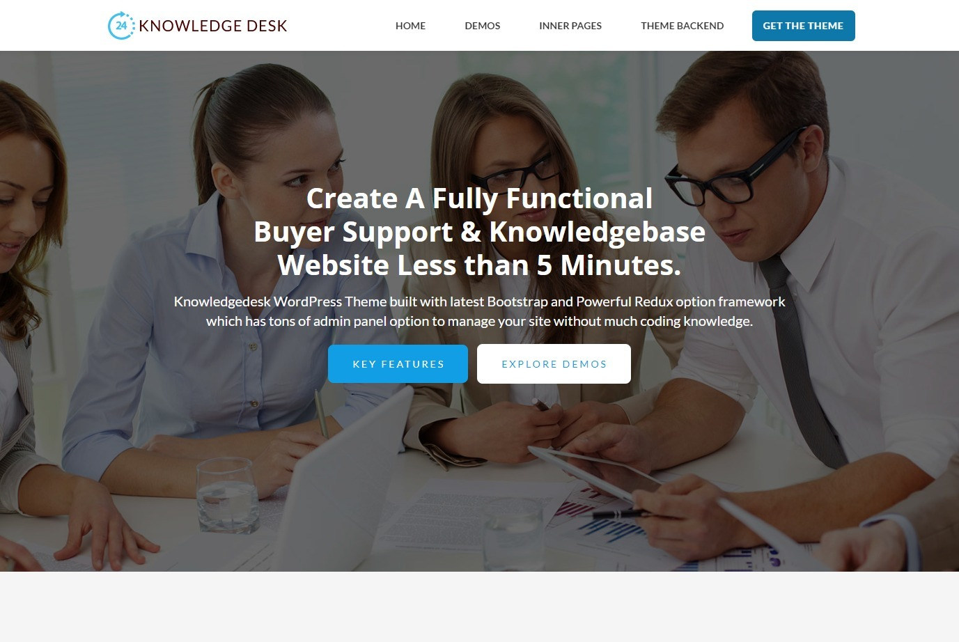 Knowledge Desk Full Service WordPress Theme for Tech and Purchaser Support