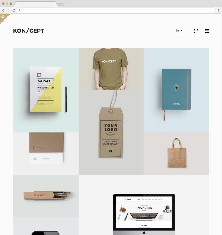 KonCept WordPress Portfolio And Grid Theme