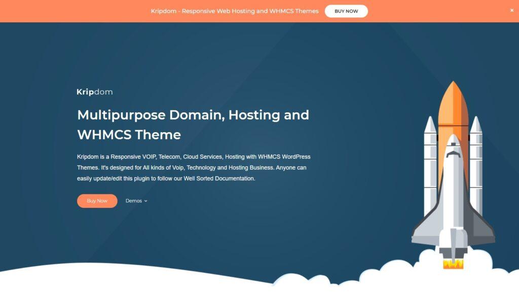 Kripdom Multipurpose Domain Hosting and WHMCS Theme