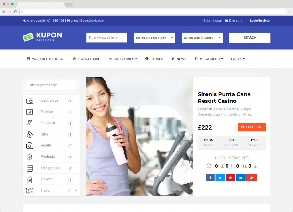 Kupon Multivendor Dokan Ready WooCommerce Theme