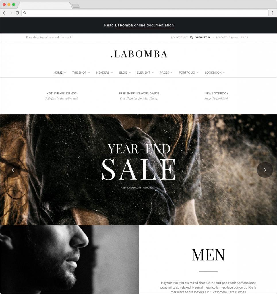 LaBomba ECommerce Fashion Shop Theme