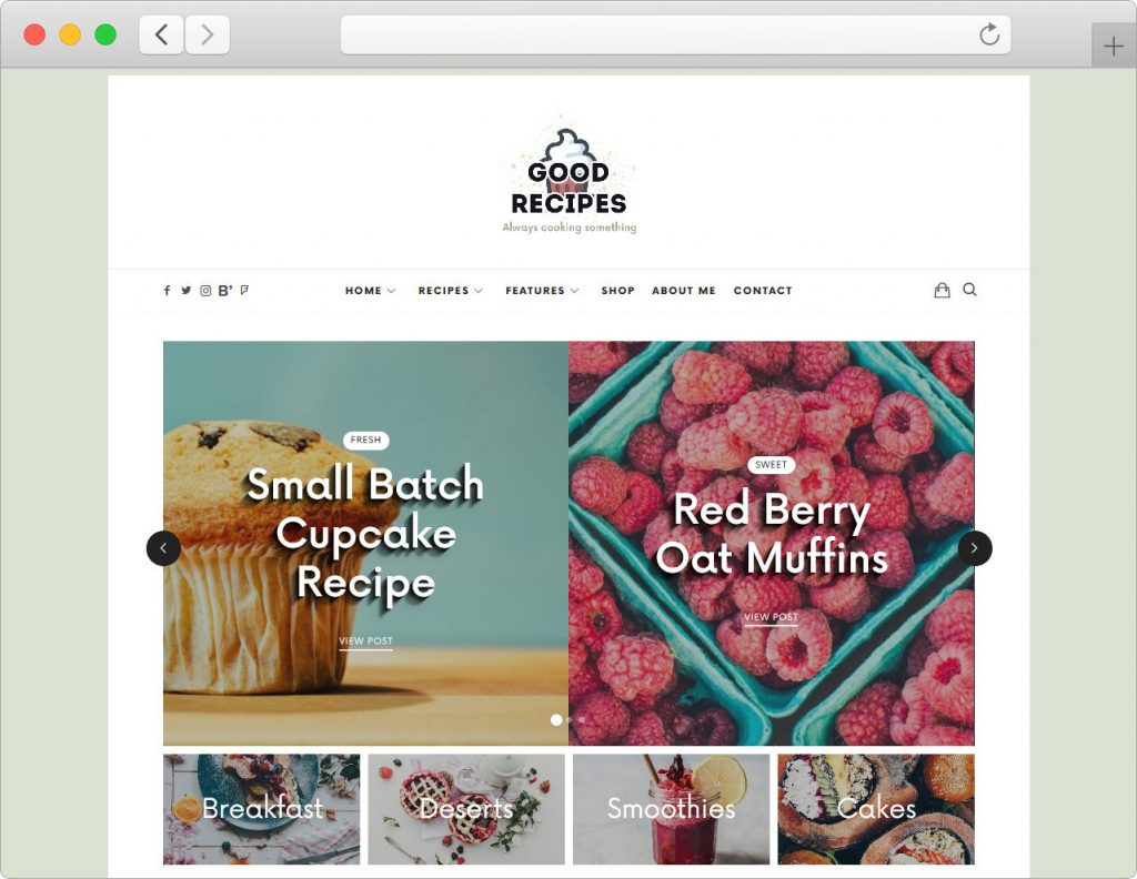 LaHanna Good Recipes WordPresss Recipe Blog Theme