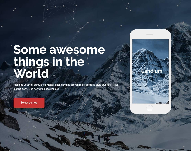 Landium WordPress One Page Landing Page Theme