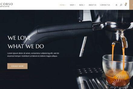 Larcorso WordPress Coffee Shop Theme 1