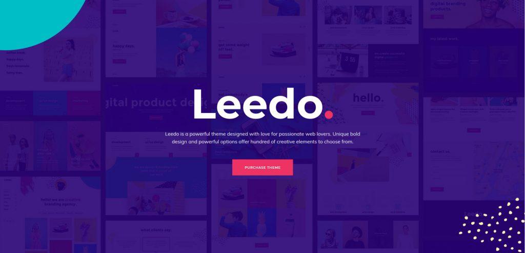 Leedo Colorful And Creative WordPress Portfolio Theme