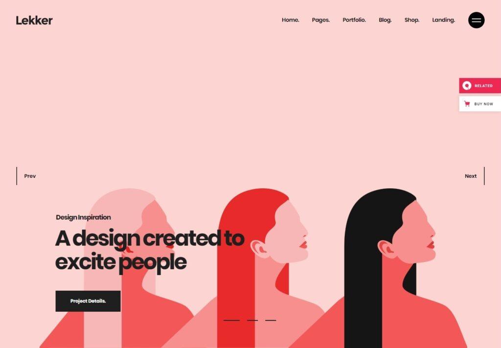 Lekker Bold Modern Minimalist WordPress Themes