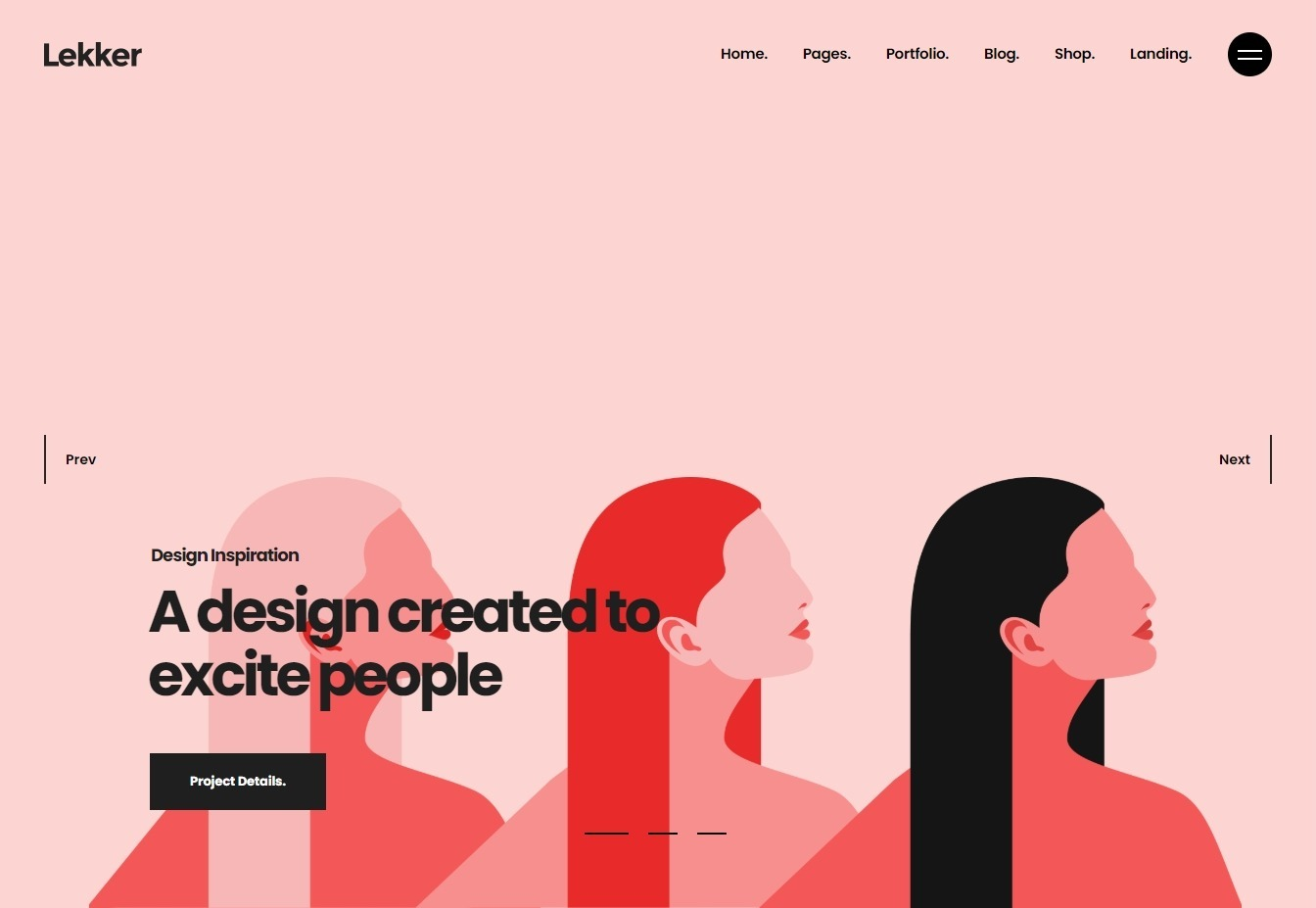 Lekker Illustrators Portfolio WordPress Theme