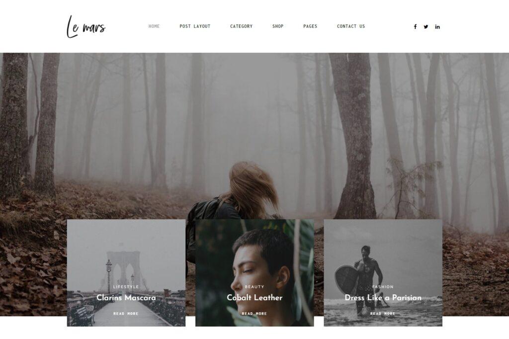 Lemars Personal Blog WordPress Theme