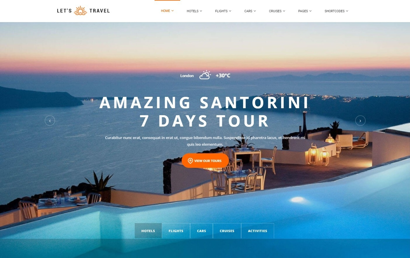 Lets Travel WordPress Theme for Selling Travel Packages