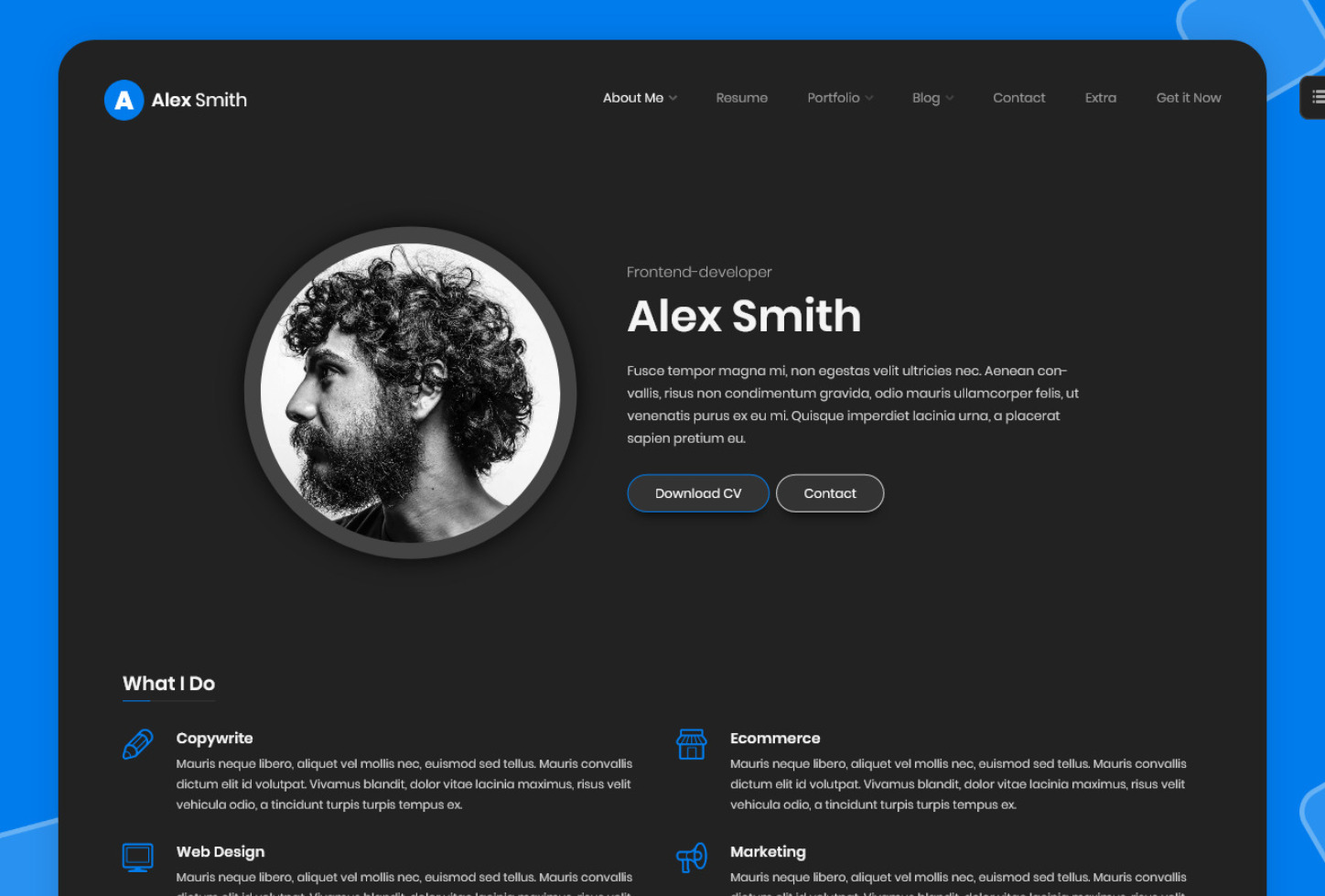 Leven Personal Online Resume Theme
