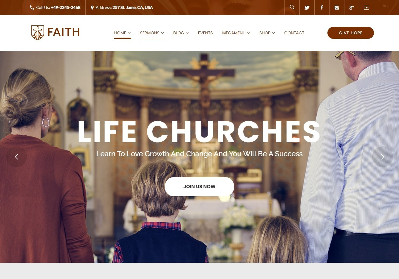 Life Churches WordPress Theme for Churches and Events