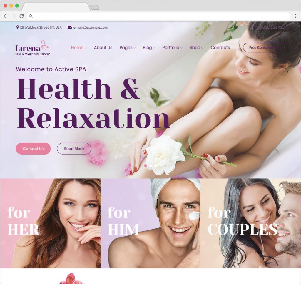 Lirena Feminine WordPress Beauty Salon Theme