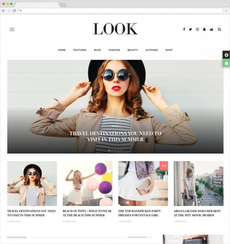 Look Premium Best Lifestyle Magazine and Blog Theme