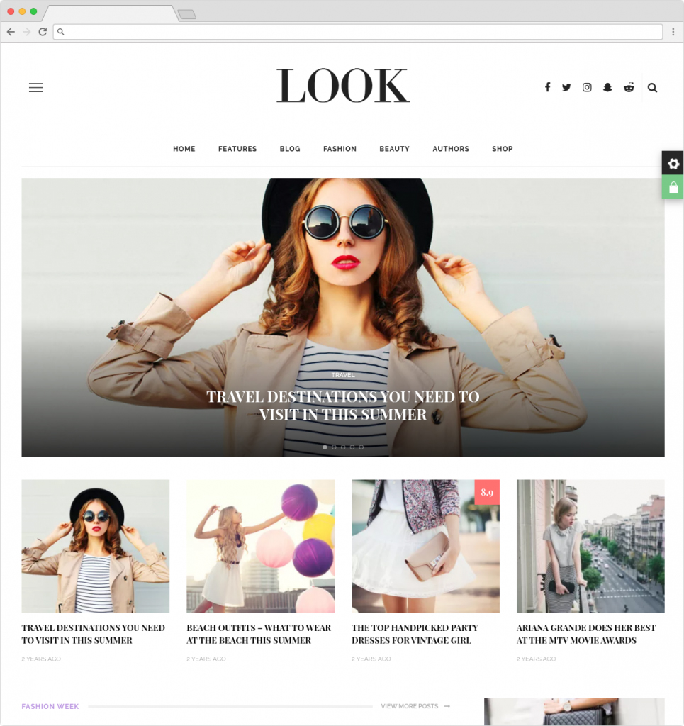 Look WordPress Food Blog And ECommerce Theme