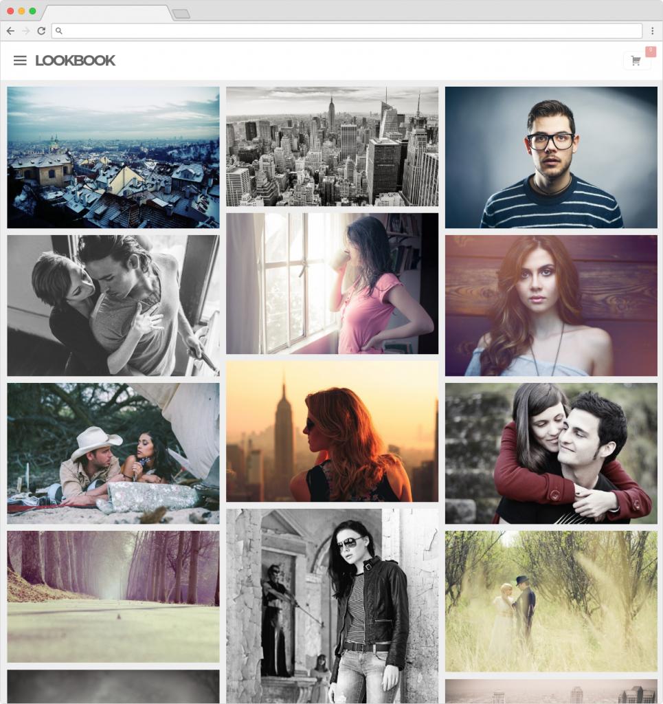 Lookbook WordPress Grid Portfolio Theme