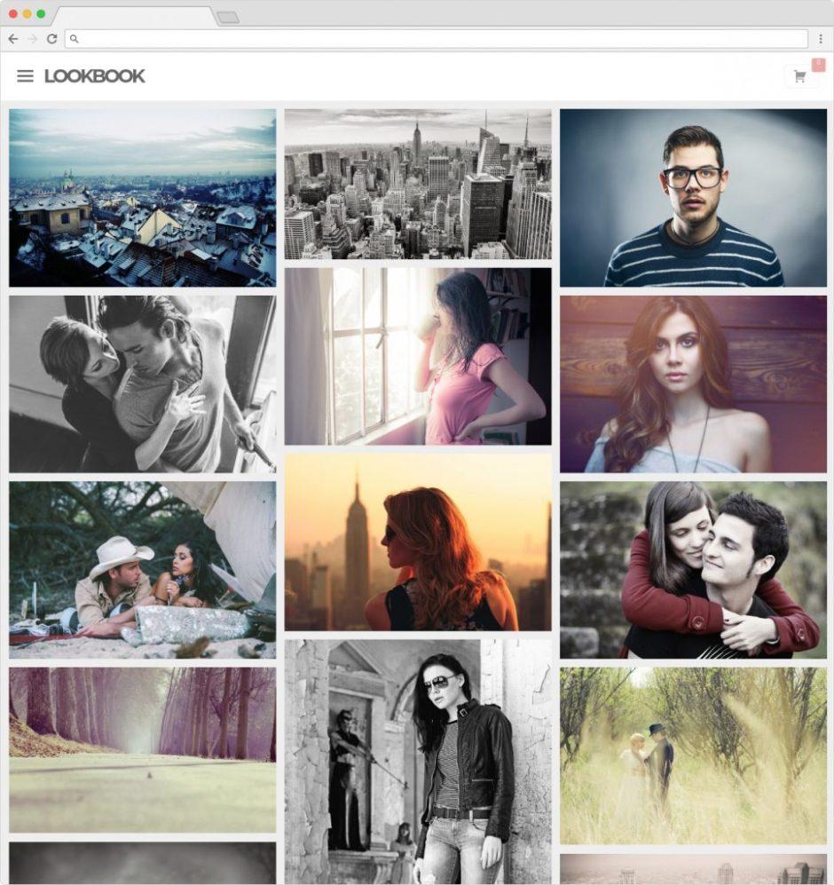 Lookbook WordPress Grid Portfolio Theme for Lookbooks