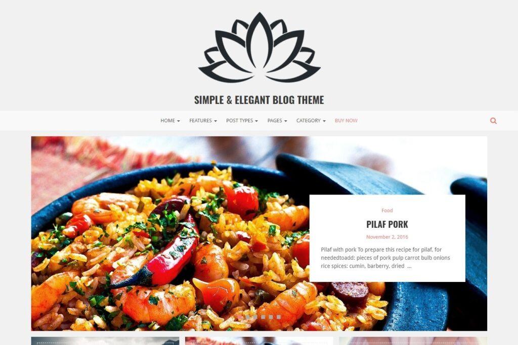 Lotos Simple Elegant GPL Blog Theme