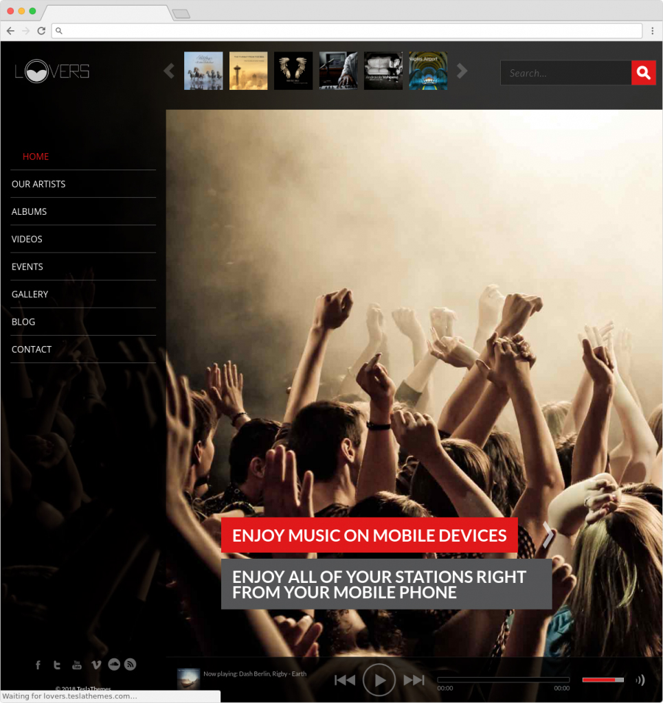 Lovers WordPress Music And Radio Station Theme