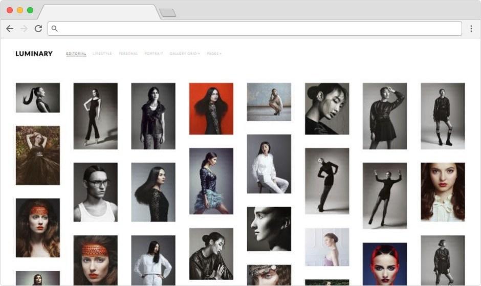 Luminary Best WordPress Grid Portfolio Theme