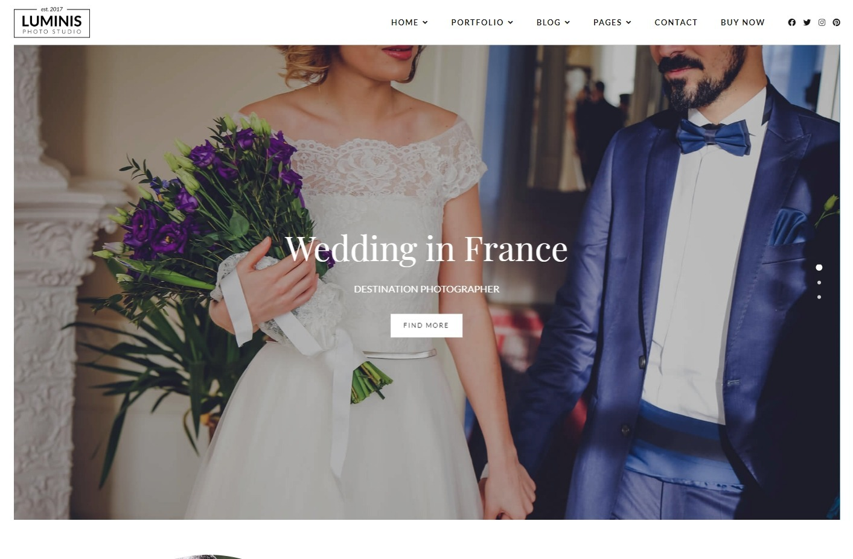 Luminis Photography WordPress Theme for Wedding Photographers